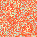 Seamless abstract curly floral pattern Stock Images