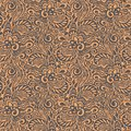 Seamless abstract curly floral pattern Stock Photo