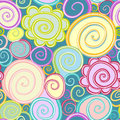 Seamless abstract curly wave pattern Royalty Free Stock Images