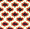 Seamless abstract curve ornament pattern textured wallpaper Royalty Free Stock Photo