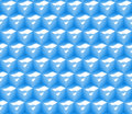 Seamless abstract d background pattern made of an array of cubes with dimples in blue and white tileable shades Stock Images