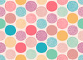 Seamless abstract dots circles pattern Royalty Free Stock Photo