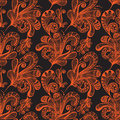 Seamless abstract floral background Stock Photography