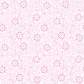 Seamless abstract floral background pink Royalty Free Stock Image
