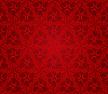 Seamless abstract floral pattern background, red Royalty Free Stock Photo