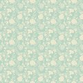 Seamless abstract floral pattern background vector for retro wallpaper design Stock Image