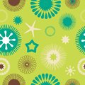 Seamless abstract floral pattern green Royalty Free Stock Photos