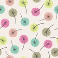 Seamless abstract floral pattern. Vector background with colorful flowers
