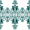Seamless abstract floral pattern on white background Royalty Free Stock Photos
