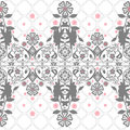 Seamless abstract floral pattern on white background Stock Photo