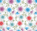 Seamless abstract flower background Stock Photography
