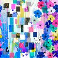 Seamless abstract flowers pattern
