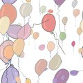 Seamless abstract flying balloons illustrations background. Details, wallpaper, colorful & graphic. Royalty Free Stock Photo