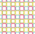 Seamless abstract geometric background made of glossy bright square figures Royalty Free Stock Images