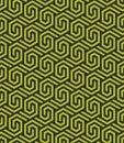 Seamless abstract geometric hexagonal pattern -vector eps8