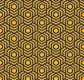 Seamless abstract geometric pattern with hexagons - eps8