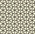 Seamless abstract geometric pattern with triangle lines in black and white - vector eps8