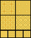 Seamless abstract geometric patterns Royalty Free Stock Images