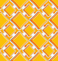 Seamless abstract geometric square background made of glossy bright figures Royalty Free Stock Photography