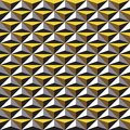 Seamless abstract geometric texture pattern background in white, grey, yellow and brown.