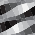 Seamless abstract geometric white to black gradient ornament and Royalty Free Stock Image