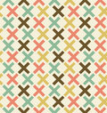 Seamless abstract geometrical background checkered pattern embroidered decorative lace backdrop criss cross Stock Photography