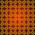 Seamless abstract golden orient pattern Stock Photos