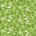 Seamless abstract hand drawn pattern in green colors Royalty Free Stock Image