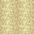 Seamless abstract hand drawn pattern with swirls Royalty Free Stock Photo