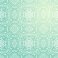 Seamless abstract hand drawn vector pattern floral background green wallpaper Royalty Free Stock Photos