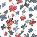 Seamless abstract illustrations of butterfly, conceptual. Cover, graphic, texture & digital. Royalty Free Stock Photo