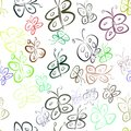 Seamless abstract illustrations of butterfly, conceptual. Graphic, design, pattern & repeat. Royalty Free Stock Photo