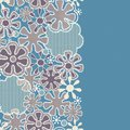 Seamless abstract lace floral pattern Stock Image