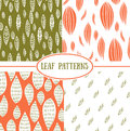 Seamless abstract leaf fall patterns.