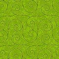 Seamless abstract liana twisted tendril background green Stock Photography