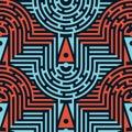 Seamless Abstract Maze Pattern...