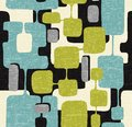 Seamless abstract mid century modern pattern. Retro design of connected overlaying rectangle shapes. Royalty Free Stock Photo