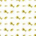 Seamless abstract money or cash illustrations background. Backdrop, vector, rich & wallpaper. Royalty Free Stock Photo