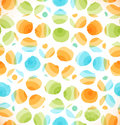 Seamless abstract original pattern with circles  Dotted multicolor background Royalty Free Stock Photo