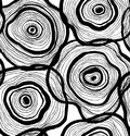 Seamless abstract pattern, artistic texture, drawn background with circles, decorative vector template design. Royalty Free Stock Photo