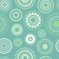 Seamless abstract pattern of circles and dots of green and turquoise colors. Kaleidoscope background. Royalty Free Stock Photo