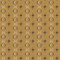 Seamless abstract pattern eye tile with brown background Royalty Free Stock Photo