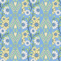 Seamless abstract pattern with flowers  ornament texture  background Royalty Free Stock Photo