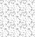 Seamless abstract pattern with music symbols Royalty Free Stock Photography