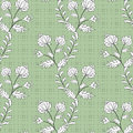 Seamless abstract pattern stylish texture on the green in specks background with flower Royalty Free Stock Photo