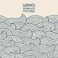 Seamless abstract pattern. Waves and scales. Vector illustration.