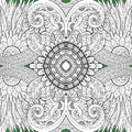 Seamless Abstract Tribal Pattern (Vector) Royalty Free Stock Photo