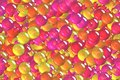 Seamless abstract yellow spheres, bubbles and balls tiling wrapping pattern