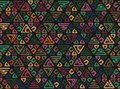 Seamless African pattern. Ethnic boho ornament on the carpet. Aztec style. Figure tribal embroidery. Indian, Mexican, folk pattern