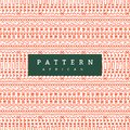 Seamless african pattern. Hand drawn horizontal stripes. Bright Orange print for your textiles.